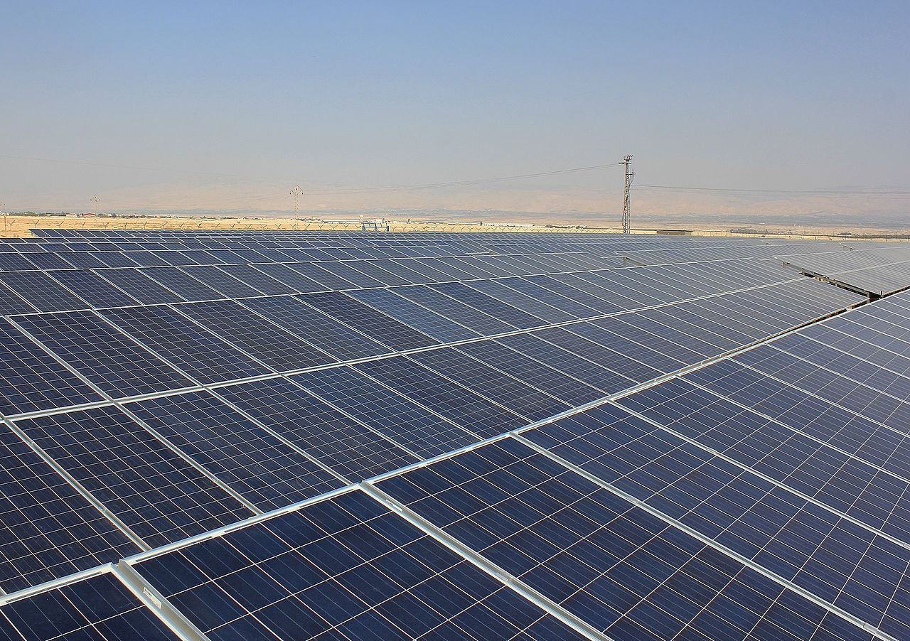 Dead Sea Photovoltaic Power Generating Plant in Jericho, Palestine